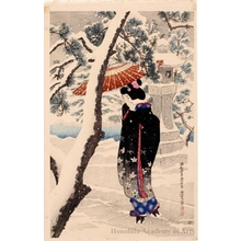 Ito Shinsui: Shinto shrine in Snow - Honolulu Museum of Art