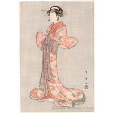 Katsukawa Shun'ei: Nakamura Noshio II as Okaru - Honolulu Museum of Art