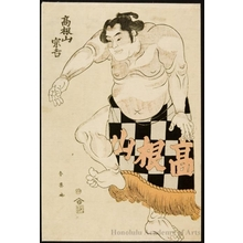 Katsukawa Shun'ei: The Sumö Wrestler Takaneyama Sökichi - Honolulu Museum of Art