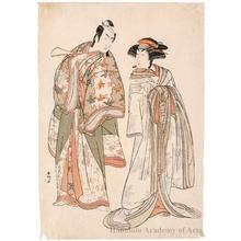 勝川春好: Ichikawa Monnosuke II and Segawa Kikunojö III - ホノルル美術館