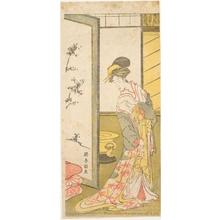 Katsukawa Shunrö: A Courtesan Leaving Her Bedroom - ホノルル美術館