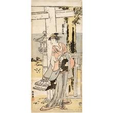 Katsukawa Shunrö: Iwai Hanshirö IV as Woman Servant Hatsu - ホノルル美術館