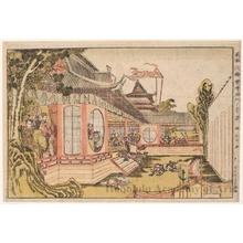 Katsukawa Shunrö: Hankai invades the Party at the Kömon Gate - ホノルル美術館