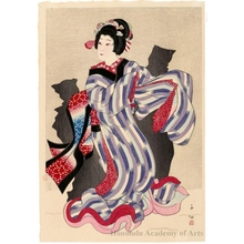 Natori Shunsen: Nakamura Jakuemon as Oshichi - Honolulu Museum of Art