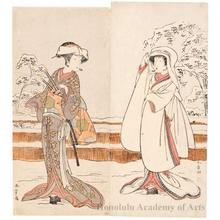 Katsukawa Shunsho: Segawa Kikunojö III as Konami and Nakamura Rikö I as Tonase - Honolulu Museum of Art