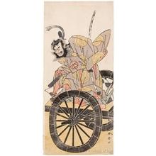 勝川春章: Nakajima Mihoemon as Tokihira - ホノルル美術館