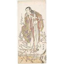 勝川春章: Nakamura Nakazö I as Uji-no-Jöetsu (Kusunoki Masayuki) - ホノルル美術館