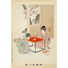 Miyagawa Shuntei: Woman Teaching Embroidery (descriptive title) - Honolulu Museum of Art