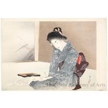 宮川春汀: Writing a Note - ホノルル美術館