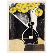 稲垣知雄: Yellow Flowers in a Black Vase - ホノルル美術館