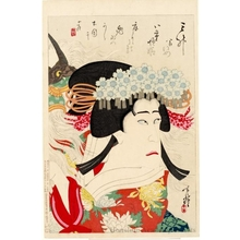 Migita Toshihide: Actor Ichikawa Sanshö in the role of Yaegaki-hime - Honolulu Museum of Art