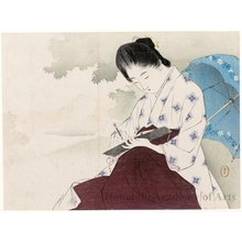 Mizuno Toshikata: Beauty Sketching in a Field - Honolulu Museum of Art