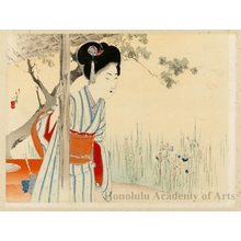 Mizuno Toshikata: Beauty Looking at Irises - Honolulu Museum of Art