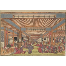 Utagawa Toyoharu: Year-end Dance Party in the New Yoshiwara Pleasure Quarter - Honolulu Museum of Art