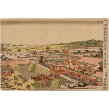 歌川豊春: The Battle at Awazu Fought by [Kiso] Yoshinaka - ホノルル美術館