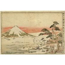 Utagawa Toyoharu: Fuji (Mount Fuji) in Spring, Seen from Tago Bay - Honolulu Museum of Art