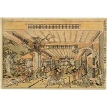 Utagawa Toyoharu: The Four Heavenly Kings Killing the Spider Demon - Honolulu Museum of Art
