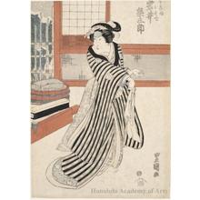 Utagawa Toyokuni I: Iwai Kumesaburö II as Köbei Musume Osode - Honolulu Museum of Art