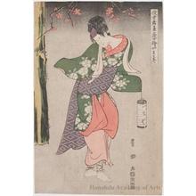 Utagawa Toyokuni I: Yamatoya Iwai Hanshirö IV as Inaka Musume - Honolulu Museum of Art