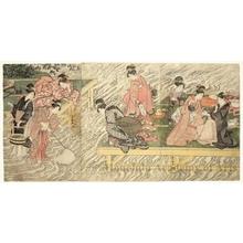 歌川豊国: Cooling Off on a River Platform - ホノルル美術館