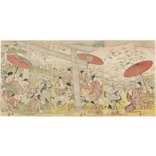 Utagawa Toyokuni I: (Nobleman and Attendants/Cranes) - Honolulu Museum of Art
