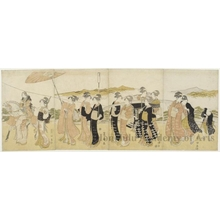 Utagawa Toyokuni I: Female Procession - Honolulu Museum of Art