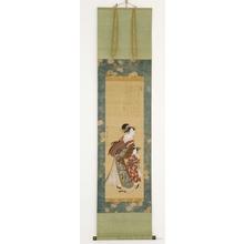 Utagawa Toyokuni I: Courtesan with Attendant - Honolulu Museum of Art