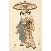 石川豊信: Sanogawa Ichimatsu and Segawa Kikujirö as Lovers - ホノルル美術館