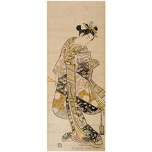 Ishikawa Toyonobu: Young Woman With Plectrum and Practice Book - Honolulu Museum of Art