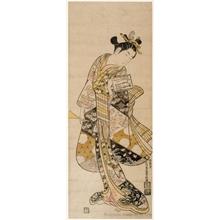 石川豊信: Young Woman With Plectrum and Practice Book - ホノルル美術館