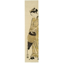 Ishikawa Toyonobu: Girl With Umbrella - Honolulu Museum of Art