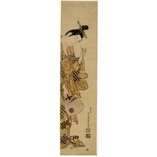 Ishikawa Toyonobu: Girl With Lantern and Fan - Honolulu Museum of Art