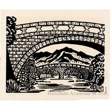Hiratsuka Unichi: Megane Bridge in Nagasaki - Honolulu Museum of Art