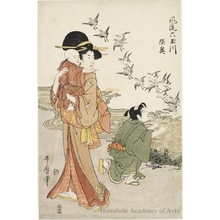 Kitagawa Utamaro: The Six Crystal Rivers Newly Fashioned: Mutsu - Honolulu Museum of Art