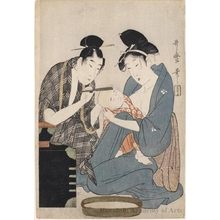 Kitagawa Utamaro: Shaving the Head - Honolulu Museum of Art