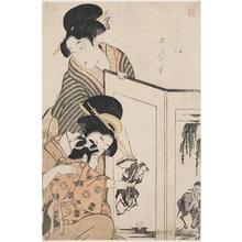 喜多川歌麿: Ox and Sheep - ホノルル美術館