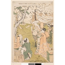 Kitagawa Utamaro: Group Under A Cherry Tree (from A Kyöka Poetry Book,