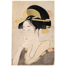 Kitagawa Utamaro: Bijin Ökubi (Bust Portrait of a Beautiful Woman) - Honolulu Museum of Art