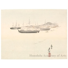 Shibata Zeshin: Western Ships at Anchor - Honolulu Museum of Art