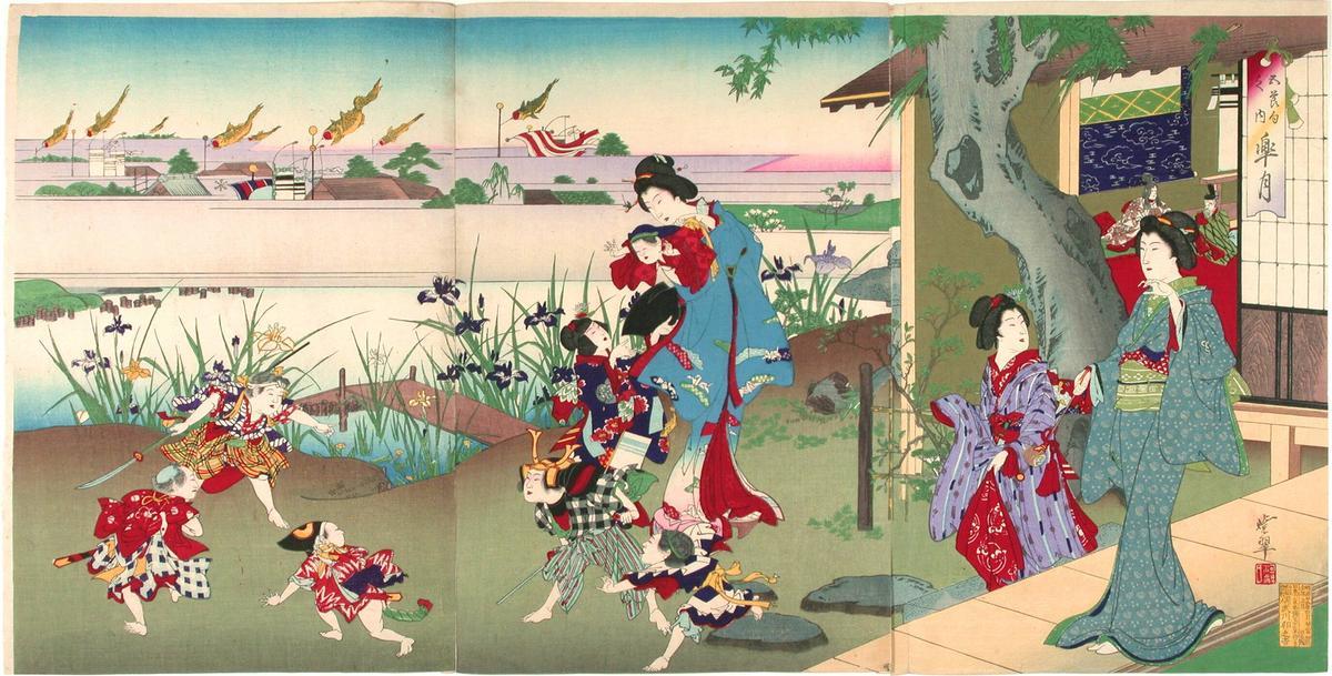 河鍋暁翠 satsuki fifth month of the lunar calendar may 皐月