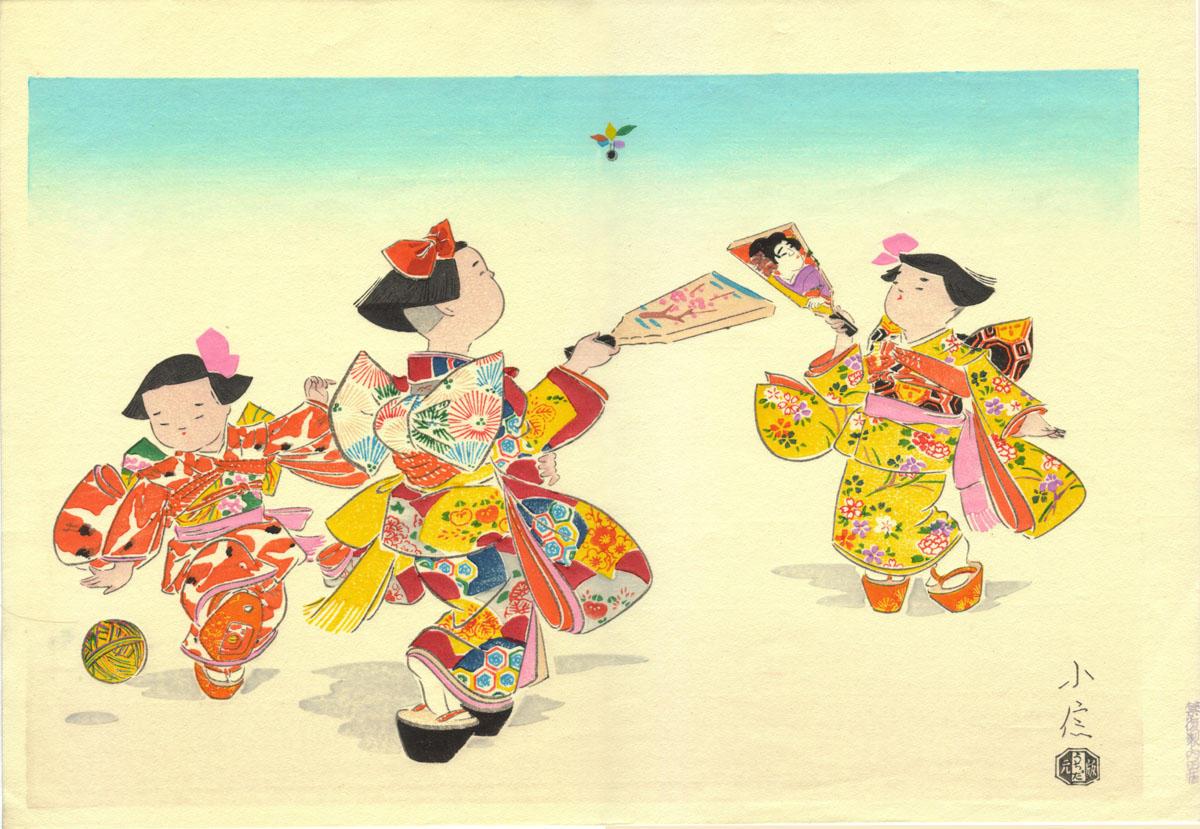 Открытки, японские картинки с новым годом