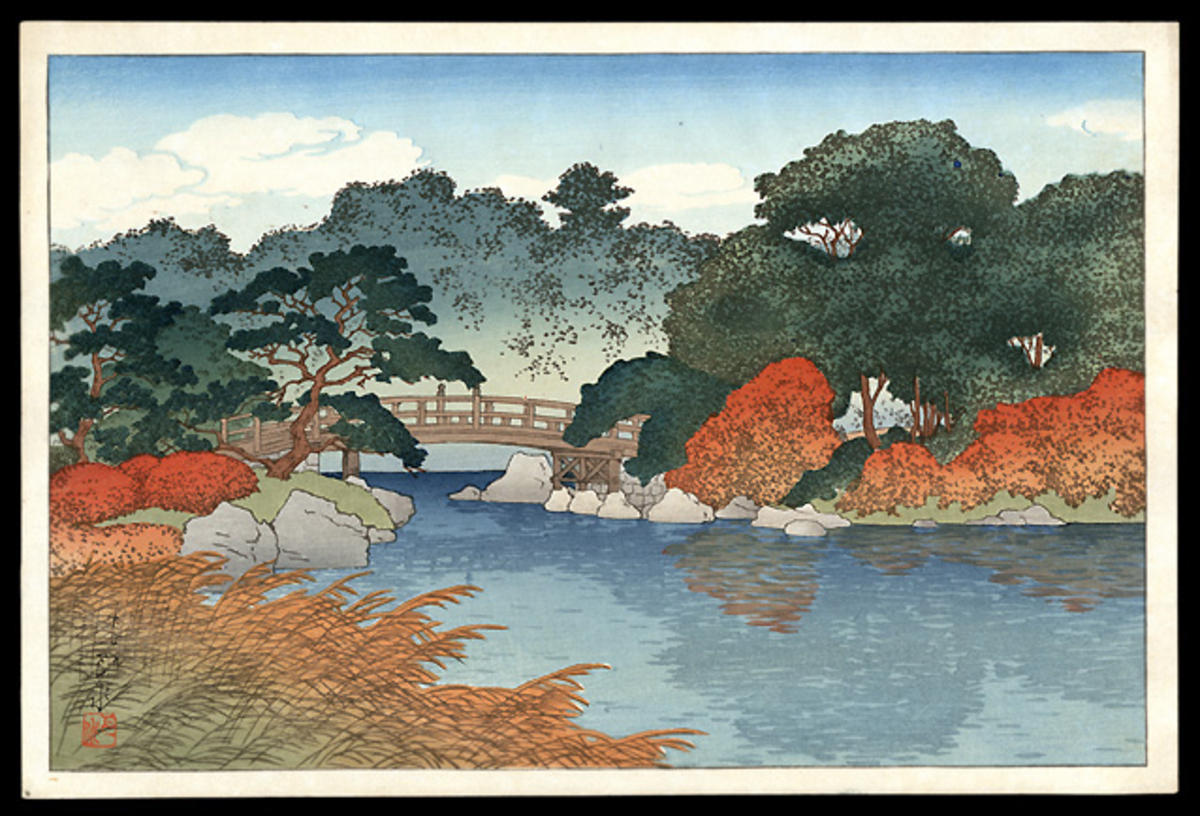 Kawase Hasui: Autumn Garden - Japanese Art Open Database ...