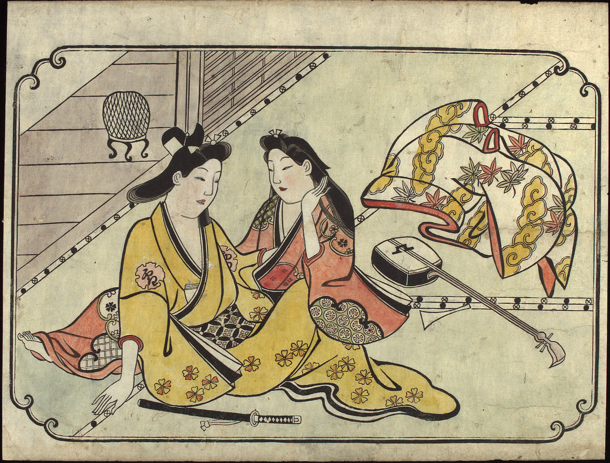 Hishikawa Moronobu: After a Tune — 低唱の後 - Japanese Art