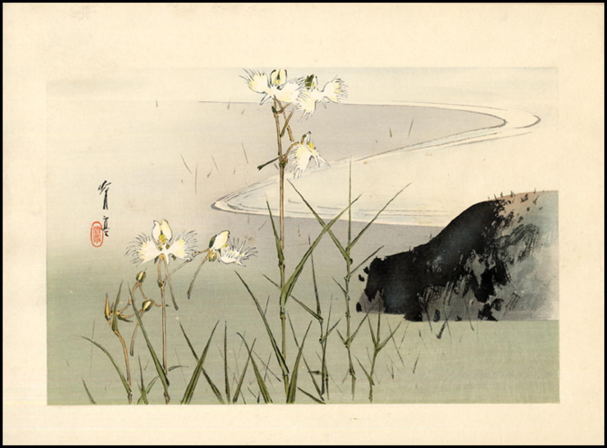 Watanabe Seitei Bamboo In The Water Japanese Art Open Database