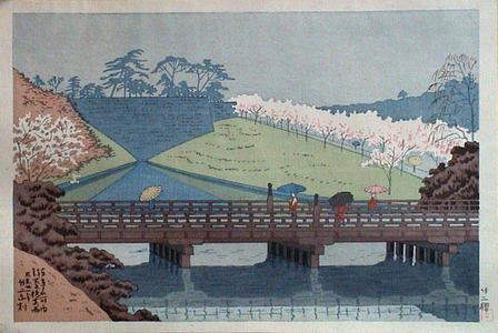 藤島武二: Spring Rain at Benkei Bashi — 弁慶橋春雨 - Japanese Art Open Database