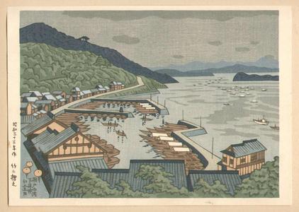 Fujishima Takeji: Shimonakai in the Setonaikai Strait — 瀬戸内海下中井 - Japanese Art Open Database