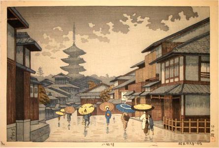 Fujishima Takeji: Yasaka Pagoda - Japanese Art Open Database