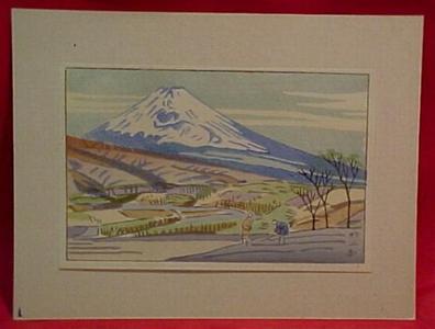 Fujishima Takeji: Taken from Mishima, Tokaido - Japanese Art Open Database