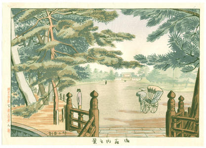 Fujishima Takeji: Palace Garden — Gyo-en Nai no Kei 御苑内の景 - Japanese Art Open Database