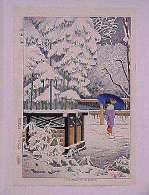Fujishima Takeji: A Bamboo in the Shrine - Japanese Art Open Database